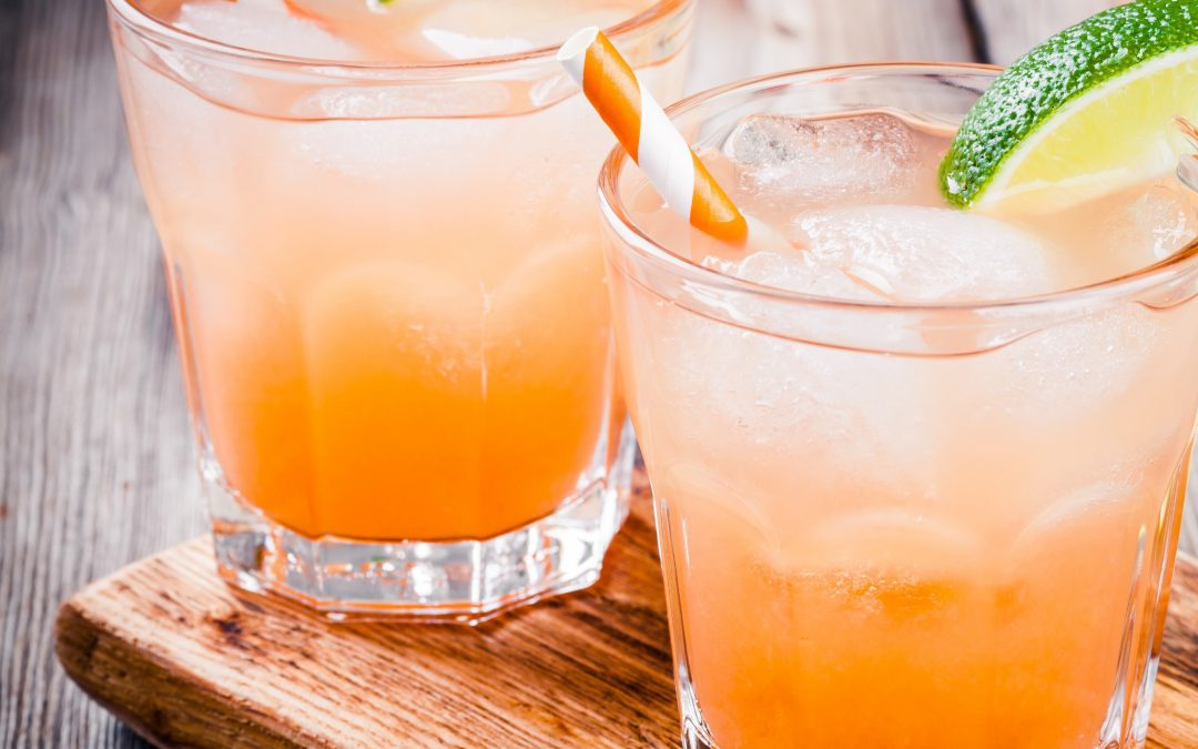 Guava & Lime Rum Cocktail