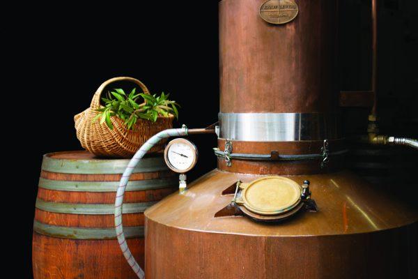 Liqueur Barrel, Basket, and Machine